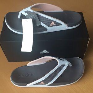 Adidas supercloud footbed grey flip flop sandals